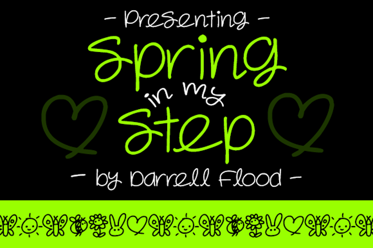 Spring in my Step Font