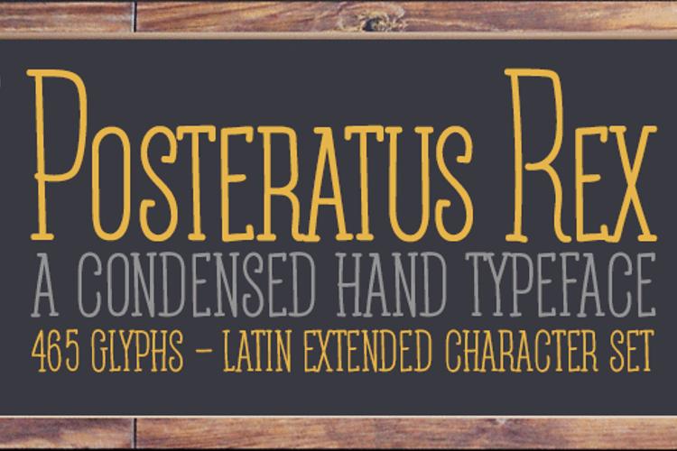 Posteratus Rex Font