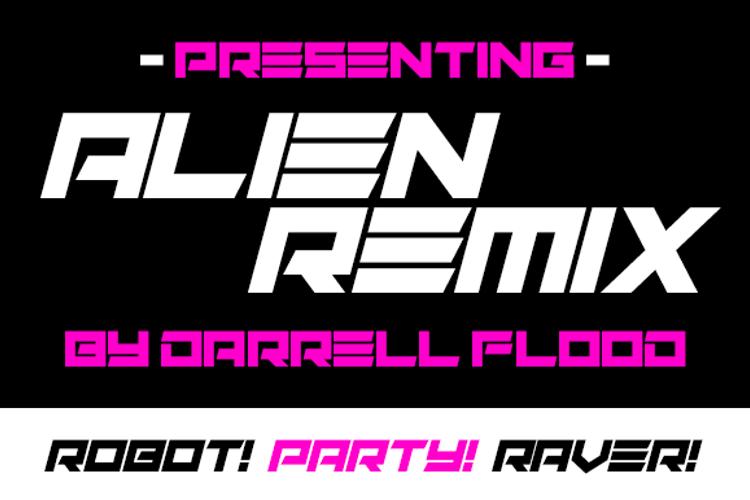 Alien Remix Font