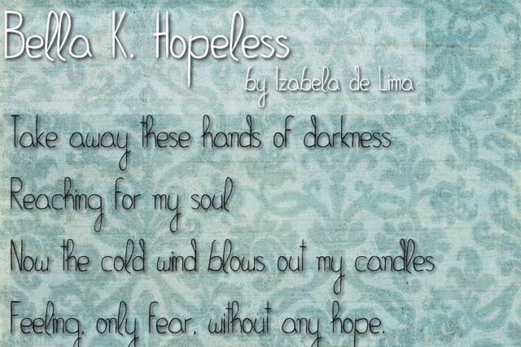 Bella K. Hopeless Font