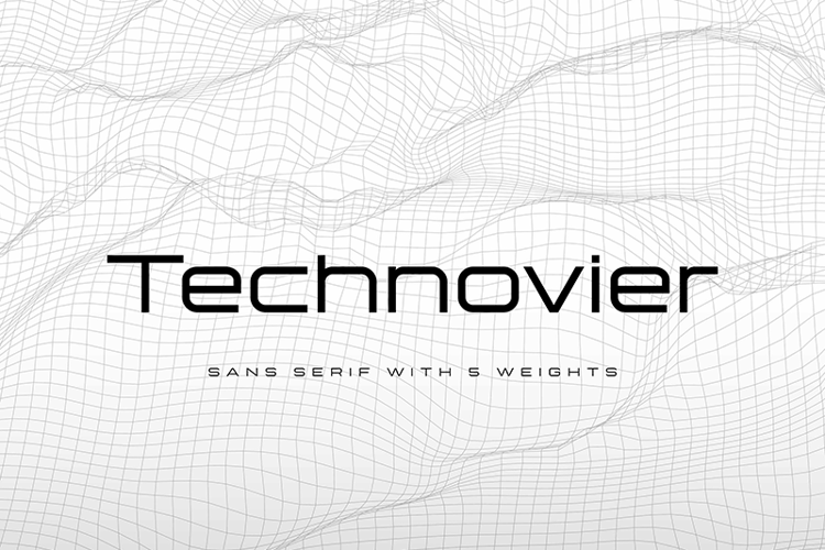 Technovier Bold Font