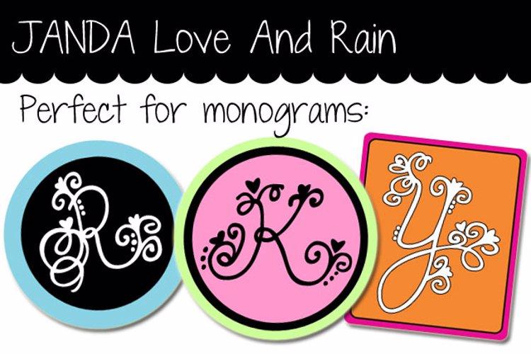 JANDA Love And Rain Font