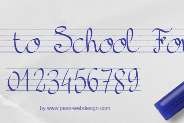 PWBacktoSchool Font