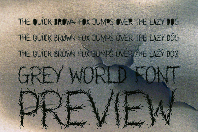 Grey World Demo Font