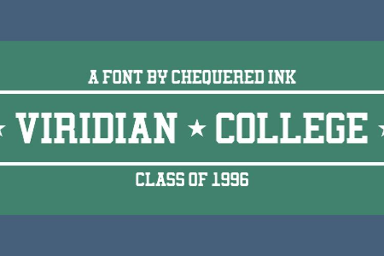 Viridian College Font