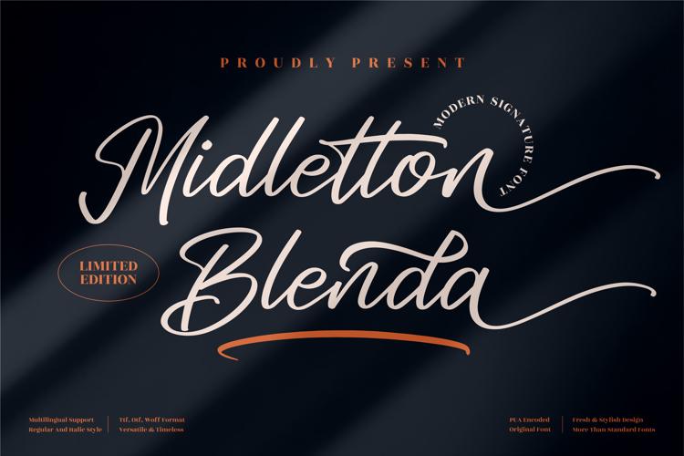 Midletton Blenda Font