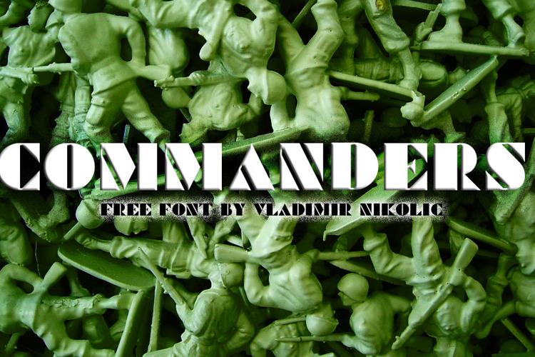 Commanders Font