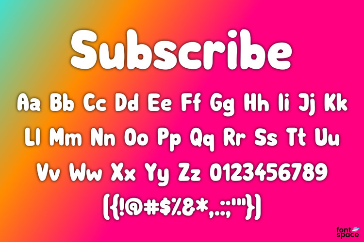 Subscribe Font