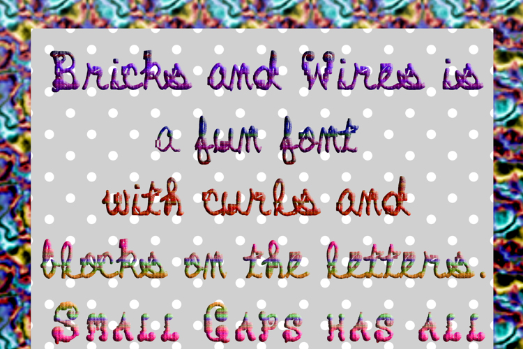 Bricks and Wires Font