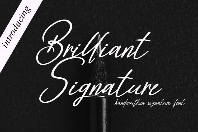 Brilliant Signature Font