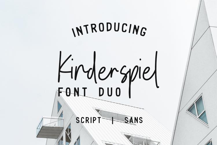 Kinderspiel Script DEMO Font