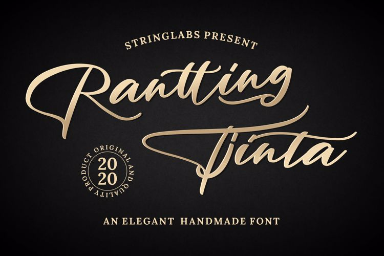 Rantting Tjinta Font