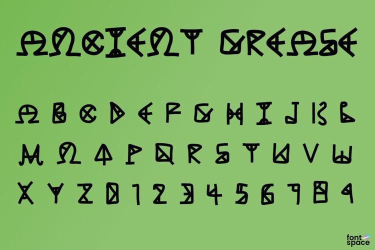 ANCIENT GREASE Font