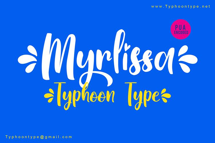 Myrlissa - Font