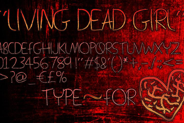Living Dead Girl Font
