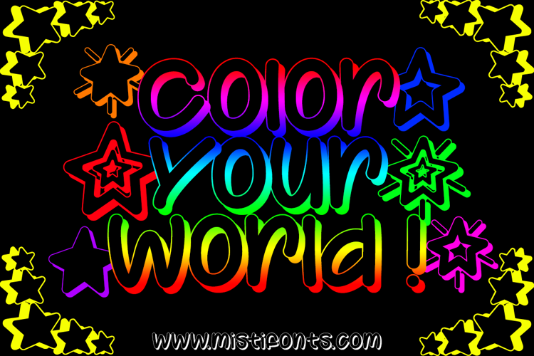 Color Your World Font