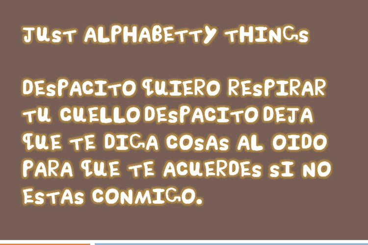 Just Alphabetty Thing! Font
