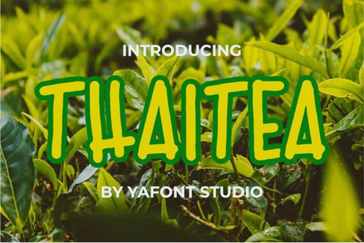 Thai tea Font