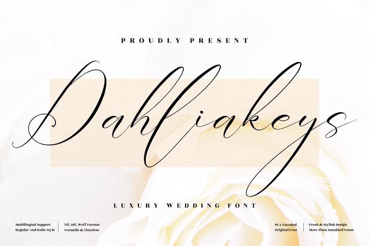 Dahliakeys Font