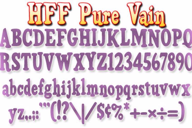 HFF Pure Vain Font