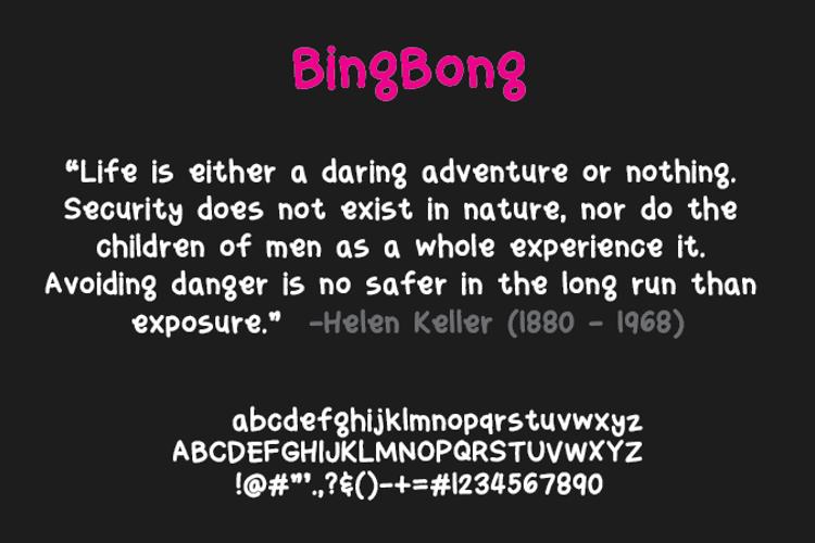 bingbong Font