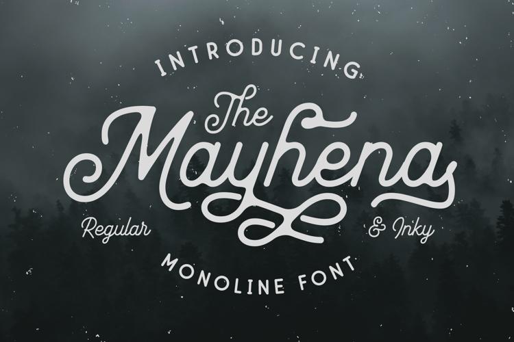 Mayhena Inky Font