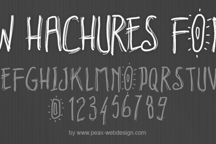 PWHachures Font