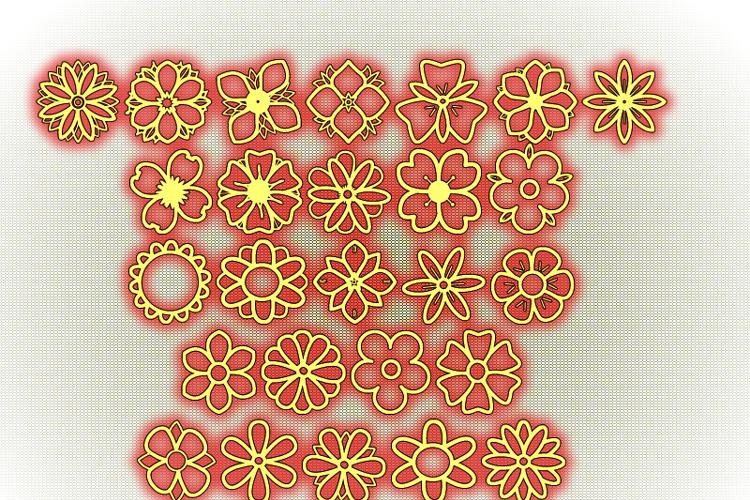 Second Flowers St Font