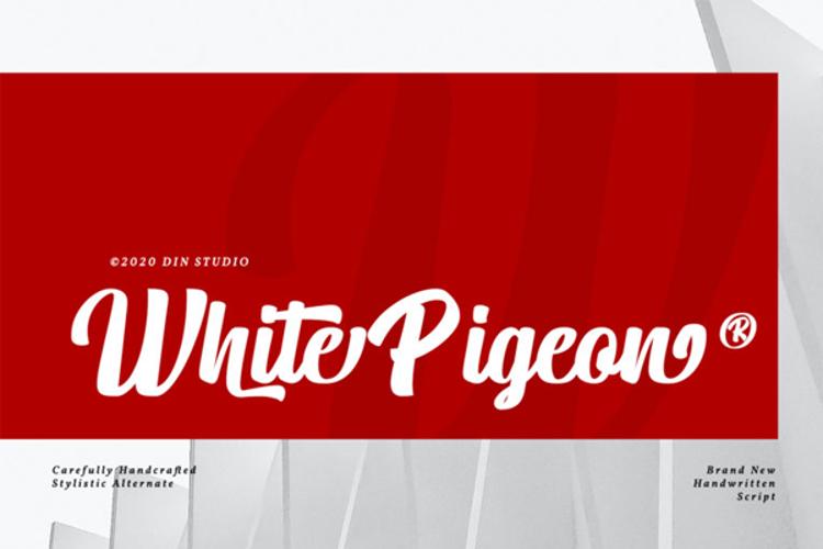White Pigeon Font