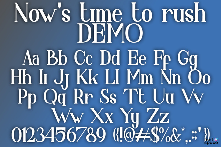 Now 's time to rush Font