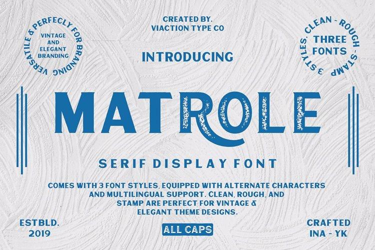 Matrole Vintage Font