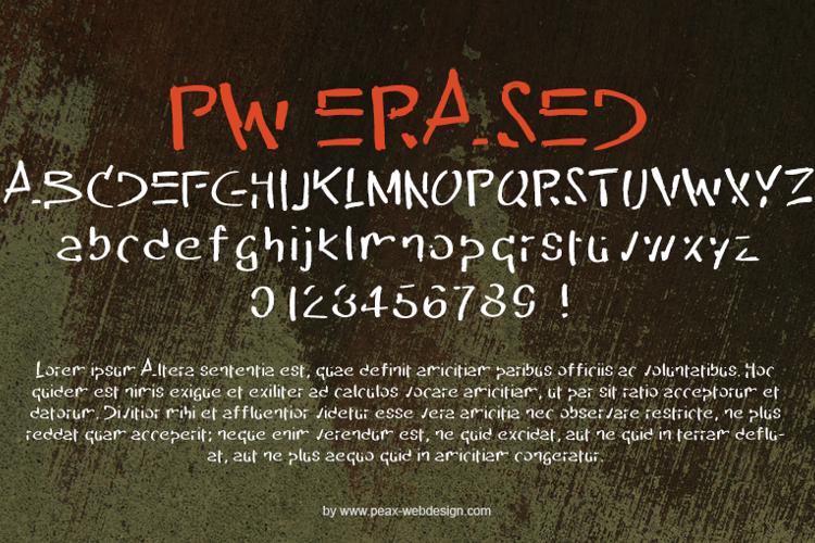 PW Erased Font