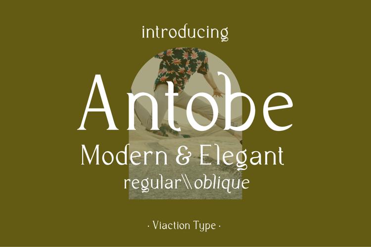 Antobe - Modern Serif Font