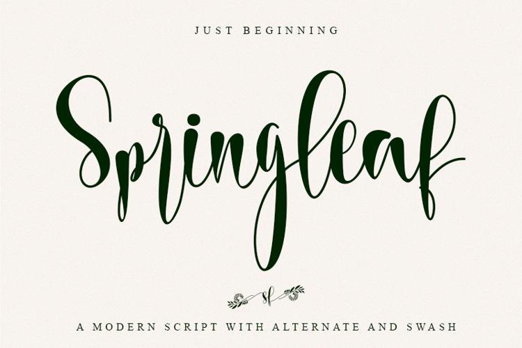 Springleaf Font