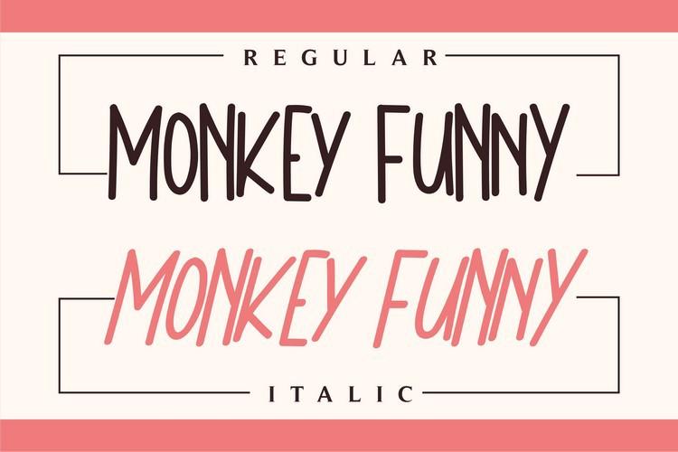 Monkey Funny Font