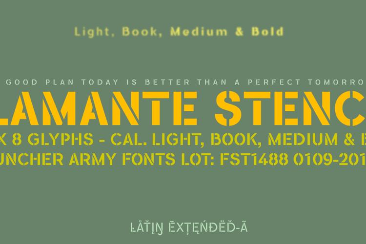Flamante Stencil Font