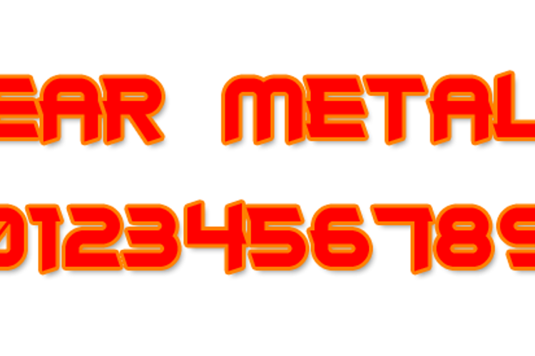 Clear Metal 7 Font