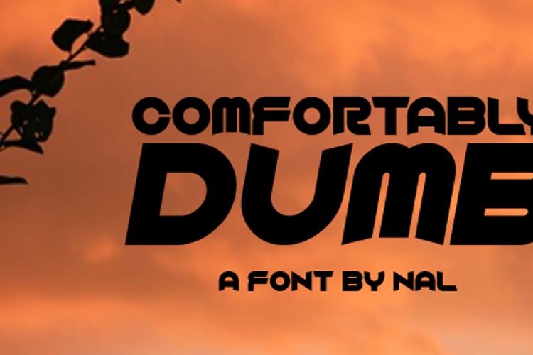 Comfortably Dumb Font