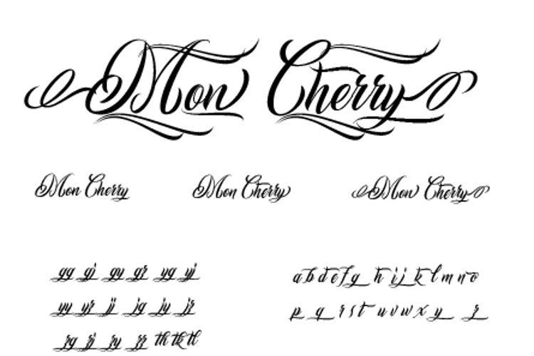 Mon Cherry Font