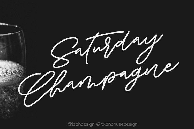 Saturday Champagne Demo Font
