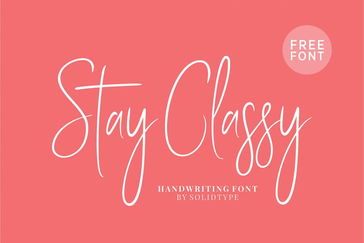 Stay Classy SLDT Font