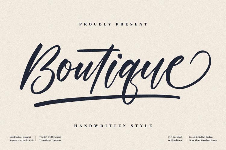 Boutique Font