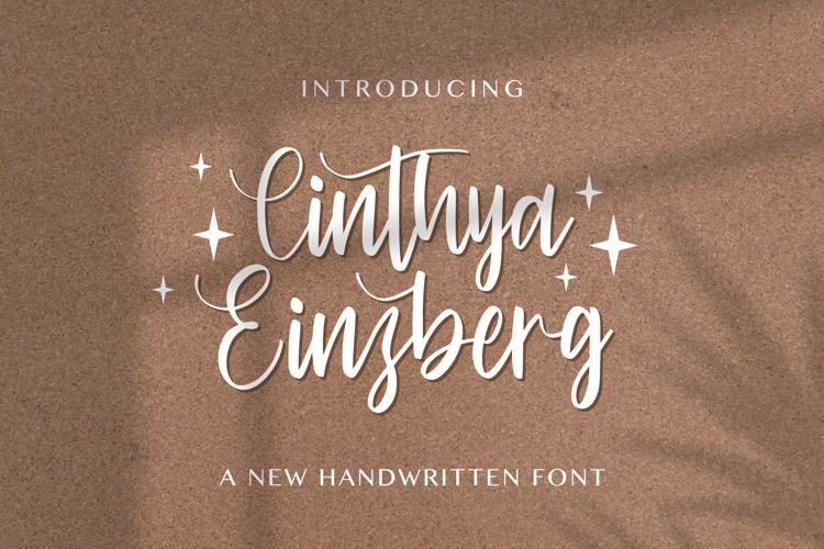 Cinthya Einzberg Font