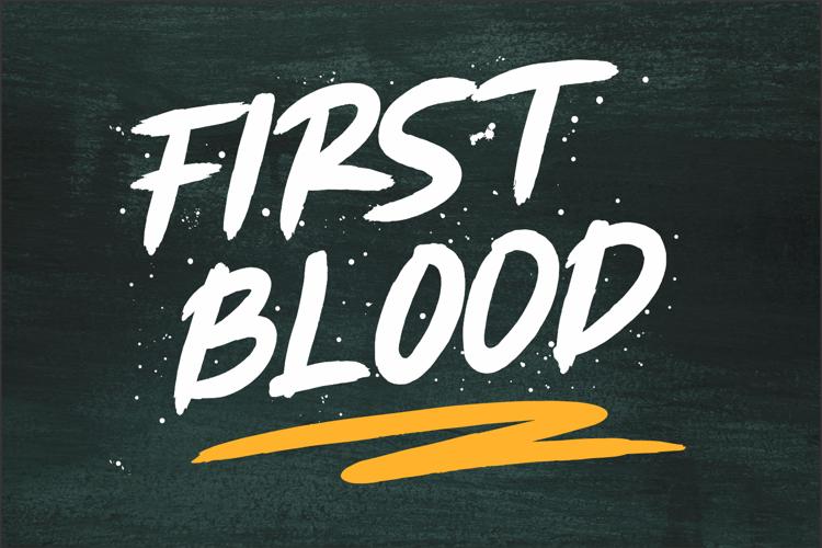 FIRST BLOOD Font