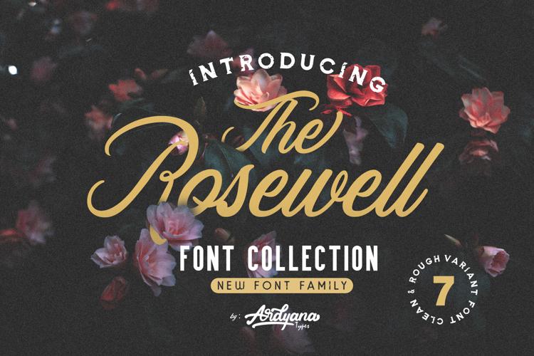 RosewellBLKRGH Demo Font