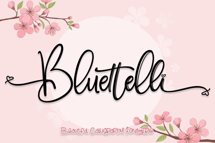 Bluettelli Font