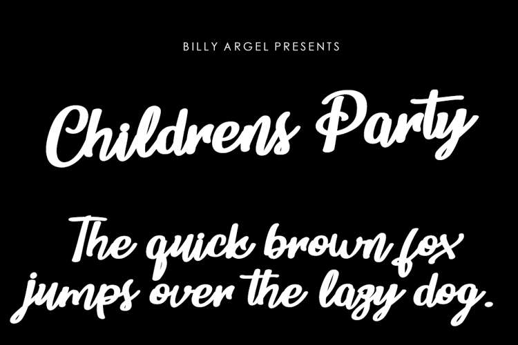 Childrens Party Font