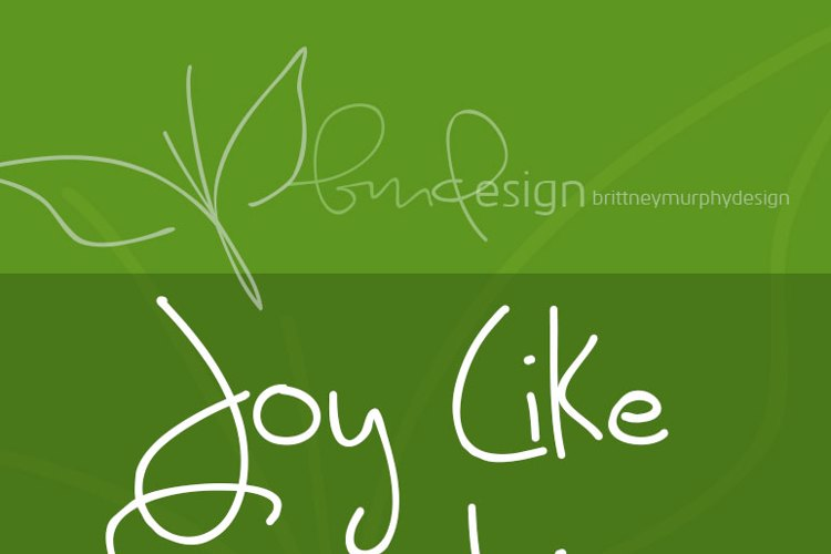 Joy Like Sunshine Through My Wi Font