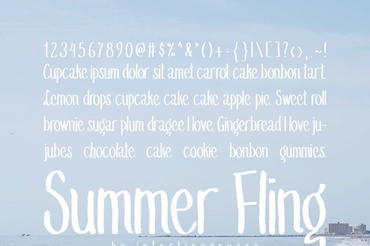 Summer Fling Medium Font