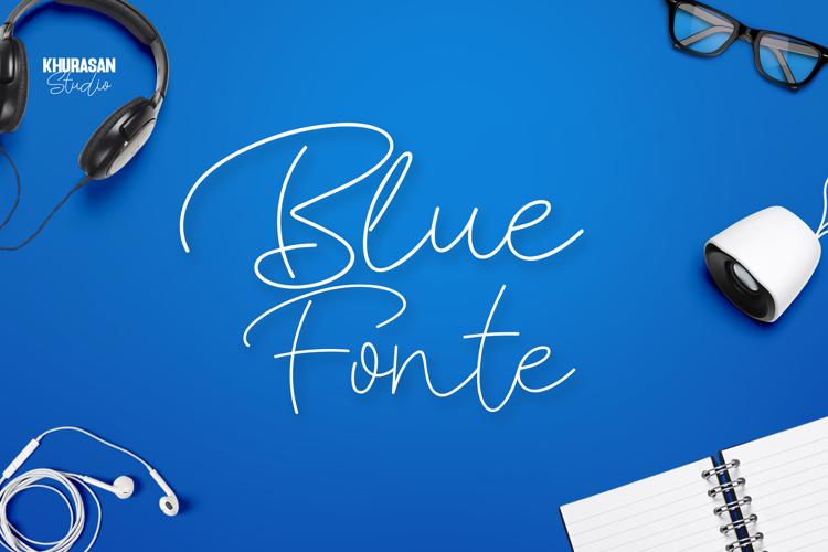 Blue Fonte Font
